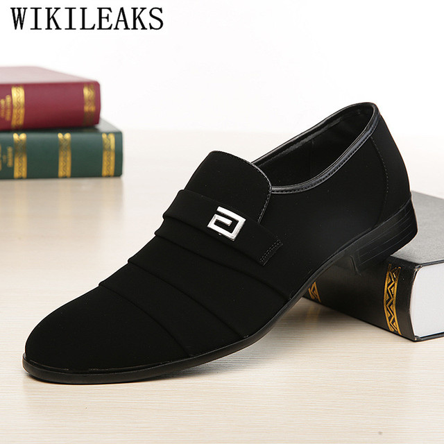 Suede Leather Loafers Men Shoes Wedding Formal Shoes Men Luxury Brand Oxford Shoes For Men Dress Shoes Sapato Social Masculino