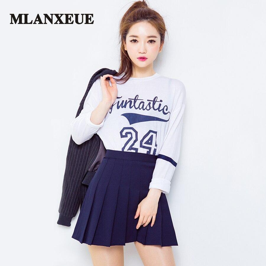 Fashion Korean version Wild High Waist Skirt Summer Women Skirt Casual Mini Short Skirt College Winds