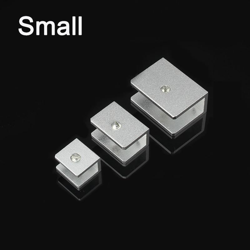 DHL 200PCS Small Space Aluminum Glass Shelf Clamp Clip Bracket Shelf Support Rectangular KF886