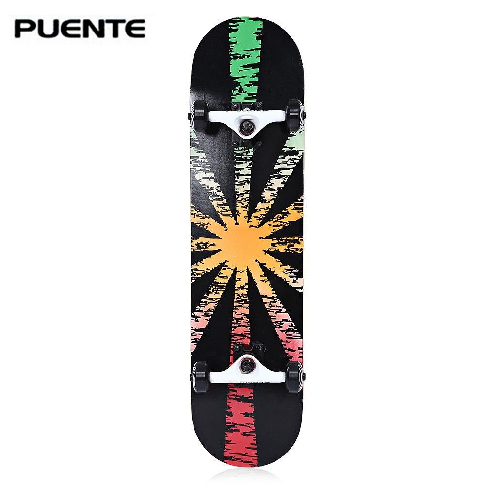 PUENTE двойной Snubby Кленовый Скейтборд Longboard 602 ABEC-9 четырехколесный подшипник скейтборд 5 цветов для развлечений