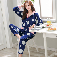 Plus Size 3XL 4XL 5XL 6XL Women's Clothing Flannel Pajamas for Women Winter Warm Pyjamas Set Velvet Pajama set casual sleepwear