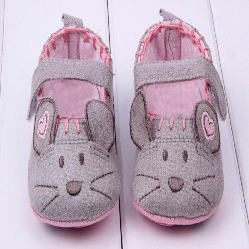 Primera Walker Soft Ratoncito Princesa Zapatos de Prewalker Del Bebé Para La Muc