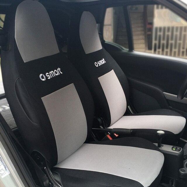 Especial tampa de assento do carro Para smart fortwo forfour forjeremy preto/bege/cinza/vermelho/azul acessórios do carro