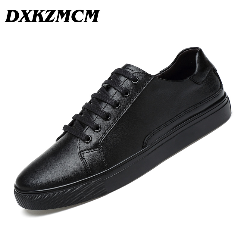 DXKZMCM Handmade Brand Genuine leather Men Casual Shoe,Soft leather Men Flats  Men Shoes Size 38-47 hot sale mens italian style flat shoes genuine leather handmade men casual flats top quality oxford shoes men leather shoes
