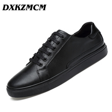 DXKZMCM Handmade Brand Genuine leather Men Casual Shoe,Soft leather Men Flats  Men Shoes Size 38-47