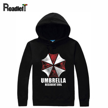 Mens Brand Tracksuits Umbrella Printing Hoodies Jacket Male Autumn Fleece Sportswear Hoody Men Resident Evil Hoodie Sweatshirt