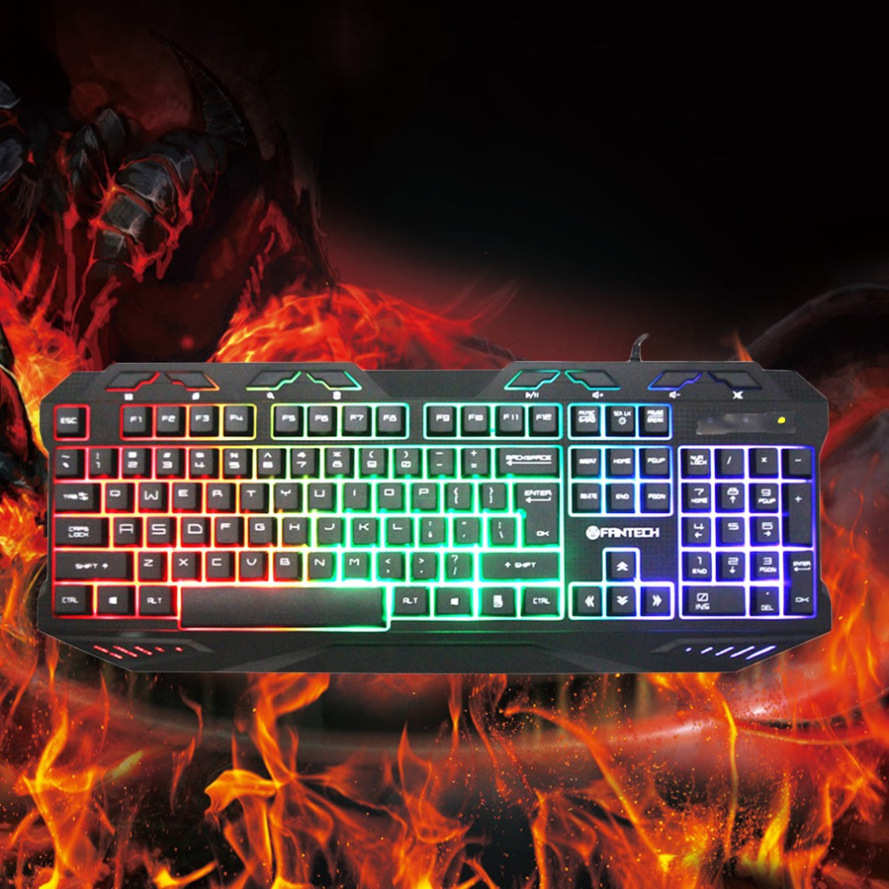 K10 Gaming Professional Keyboard Ergonomics Switches Metal Wired USB Game Keyboard 112 Key Plug and Play For Pro PC Gamer