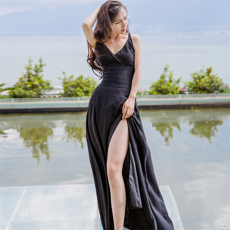 2018 High Quality Explosions Leisure matching Dresses Women 2 color Spring Summer Casual Dress