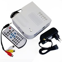 Venta caliente UC28 + Proyector HD 1080 P Mini LED Digital Video Game Proyectores Multimedia Jugador Entradas AV VGA USB SD HDMI