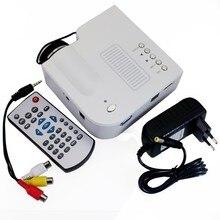 Горячие Продажи UC28 + Проектор HD 1080 P Мини СВЕТОДИОДНЫЙ Цифровой Игры Проекторы Мультимедиа Плейер Входы AV VGA USB SD HDMI