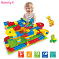 1 Set Run Rolling Ball Rail Building Blocks Enlighten Bricks Trajectory Learning Education Toys For Kids Compatible Legoed Duplo