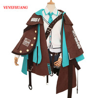 VEVEFHUANG Game Arknights Cosplay Costume Zhen Li Outfit Full Suit Adult Women Cosplay Halloween Carnival Costumes custom made 1