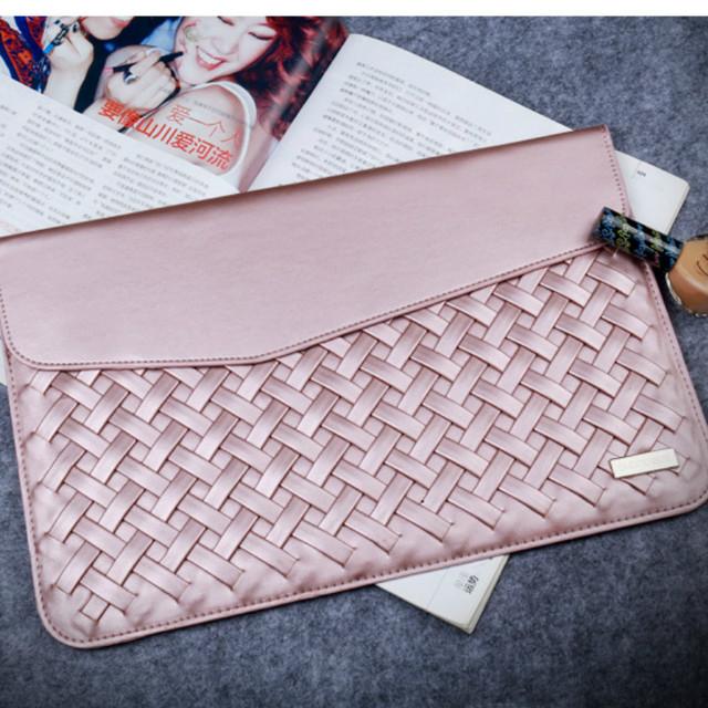 Tecelagem durável caso de luxo caixa de couro pu para macbook air 13 11 12 15 moda estilo minimalista capa protetora para macbook pro 13