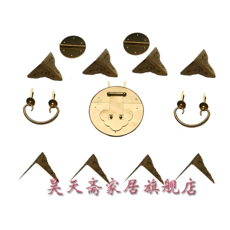 [Haotian vegetarian] Chinese antique Ming and Qing furniture fittings copper live Zhangmu Xiang HTN 035