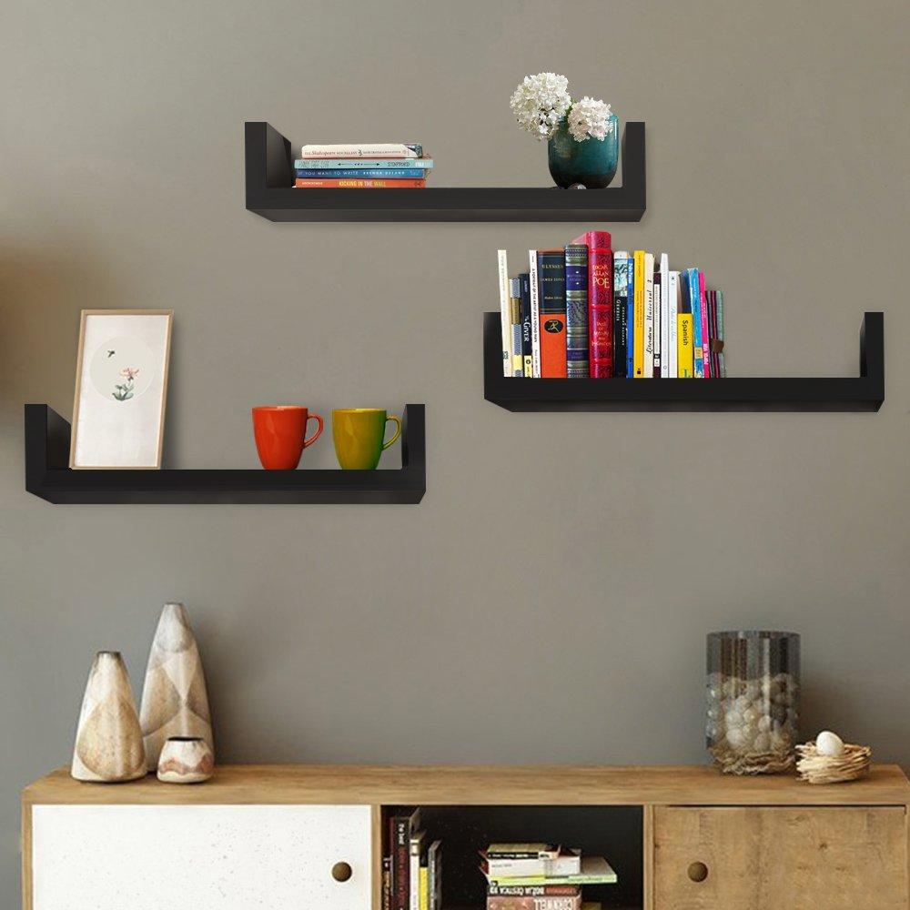 3-Tier Modern Floating Corner Shelf Wall Mount Display Shelves Home Decoration