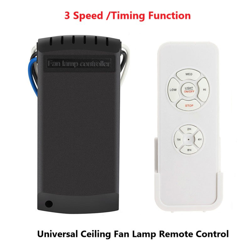 Universal Ceiling Fan Light Lamp Remote Control 3 Speed