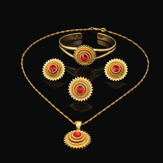 Ethiopian wedding jewelry sets fashion 2017 hot sale Gold Filled