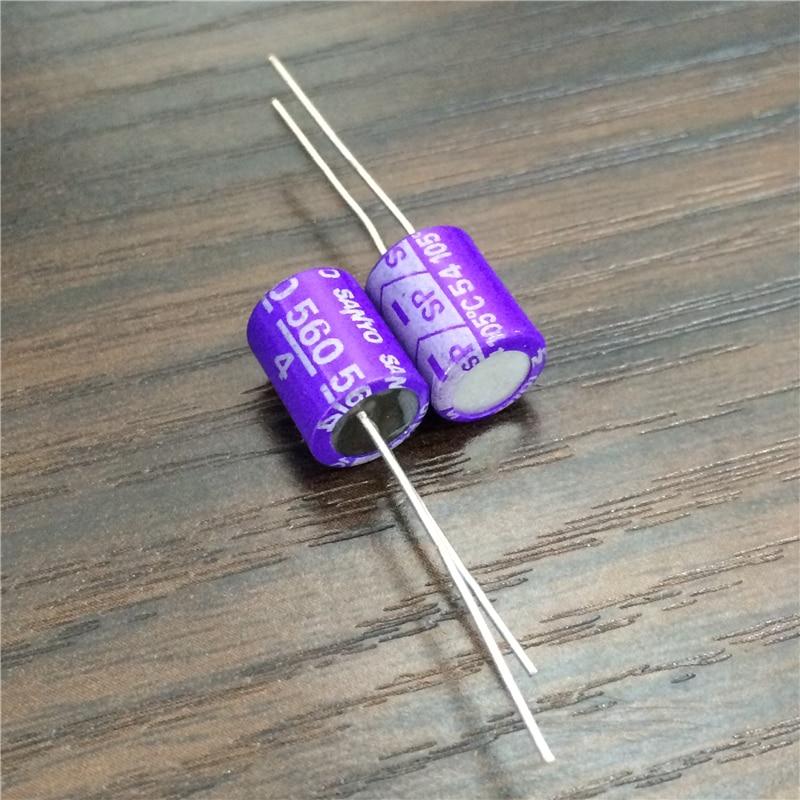 10pcs 560uF 4V SANYO OS-CON SP 8x11mm Ultra Low ESR 4V560uF 4SP560M TOP Grade Solid Capacitors
