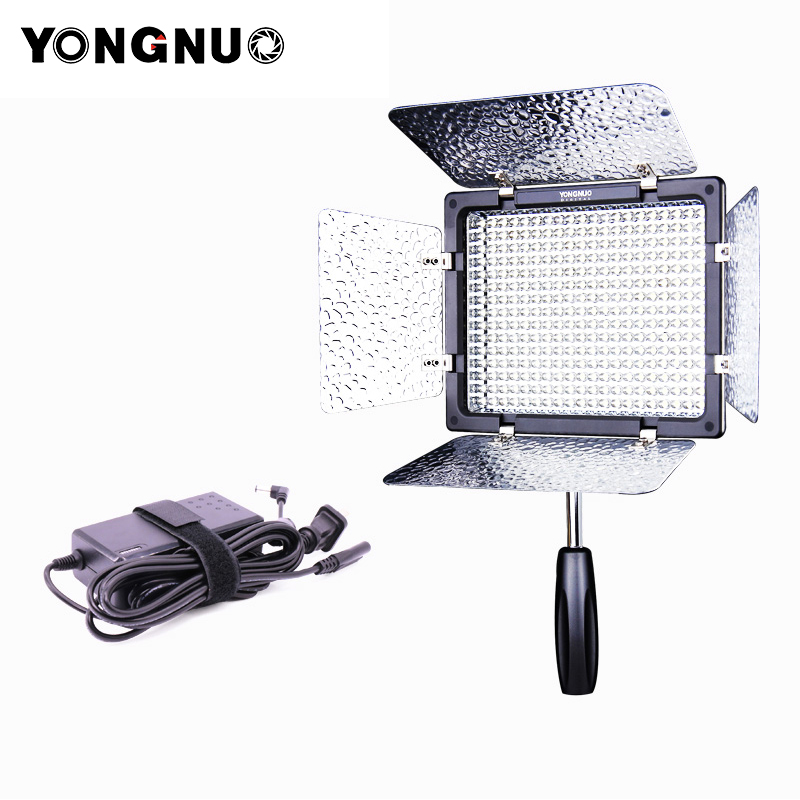 Yongnuo YN300 III 3200K-5500K LED Video light with Power Adapter On Camera Photo Studio Lighting for Canon Nikon Olympus Wedding недорого