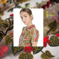 New V home upset full embroidery water soluble lace summer shirt dress fabric cloth cloth DIY