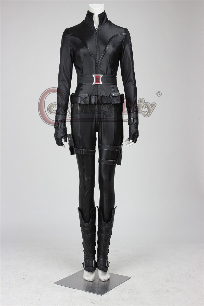 The Avengers:Captain America Black Widow Sexy Adult Women Costume For Halloween Carnival Party Outfit Custom Made D0314