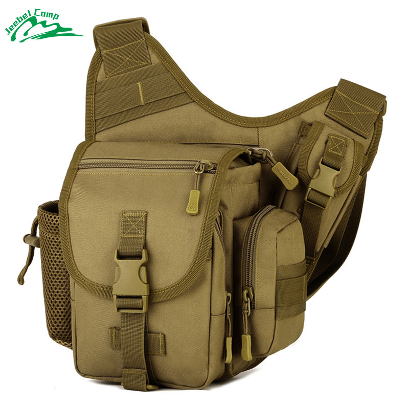 Jeebel Waterproof Shoulder Bag Tactical Military Backpack Sport Travel Army Bags Camping Outdoor Hiking Men Chest Pack bushcraft stylish military style outdoor travel sport backpack double shoulder bag army green page 2 page 1 page 1