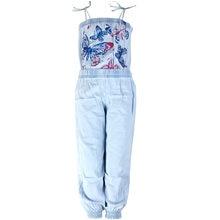 Женские джинсовые комбинезоны с принтом бабочки красные и синие