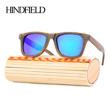 HINDFIELD New Fashion Products Bamboo Sunglasses Polarized Retro Vintage Wooden Frame Sunglasses Women Men