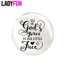 Boho Babys Gifts All of gods grace in one little face Stainless Steel Charm 20pcs Wholesale