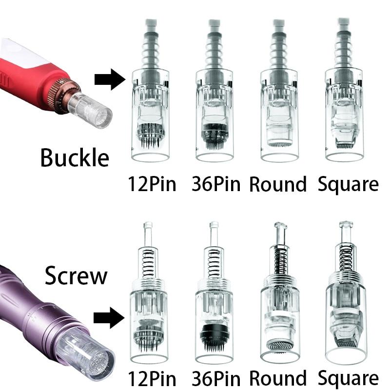 10/20 Pcs Electric Derma Pen Needles Cartridges 12//36/42/Nano Buckle/Screw Port For Ultima MYM/M5/M7 Dr.pen Auto Microneedle
