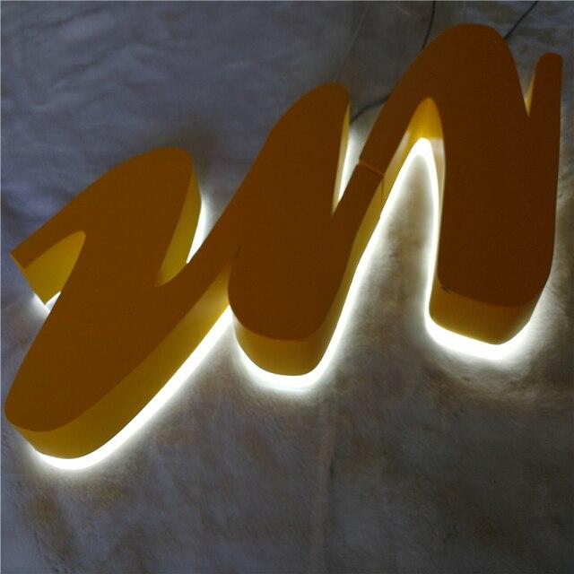 outdoor rvs led verlichting tekenen waterdichte halo lit winkel naam letters backlit signages voor