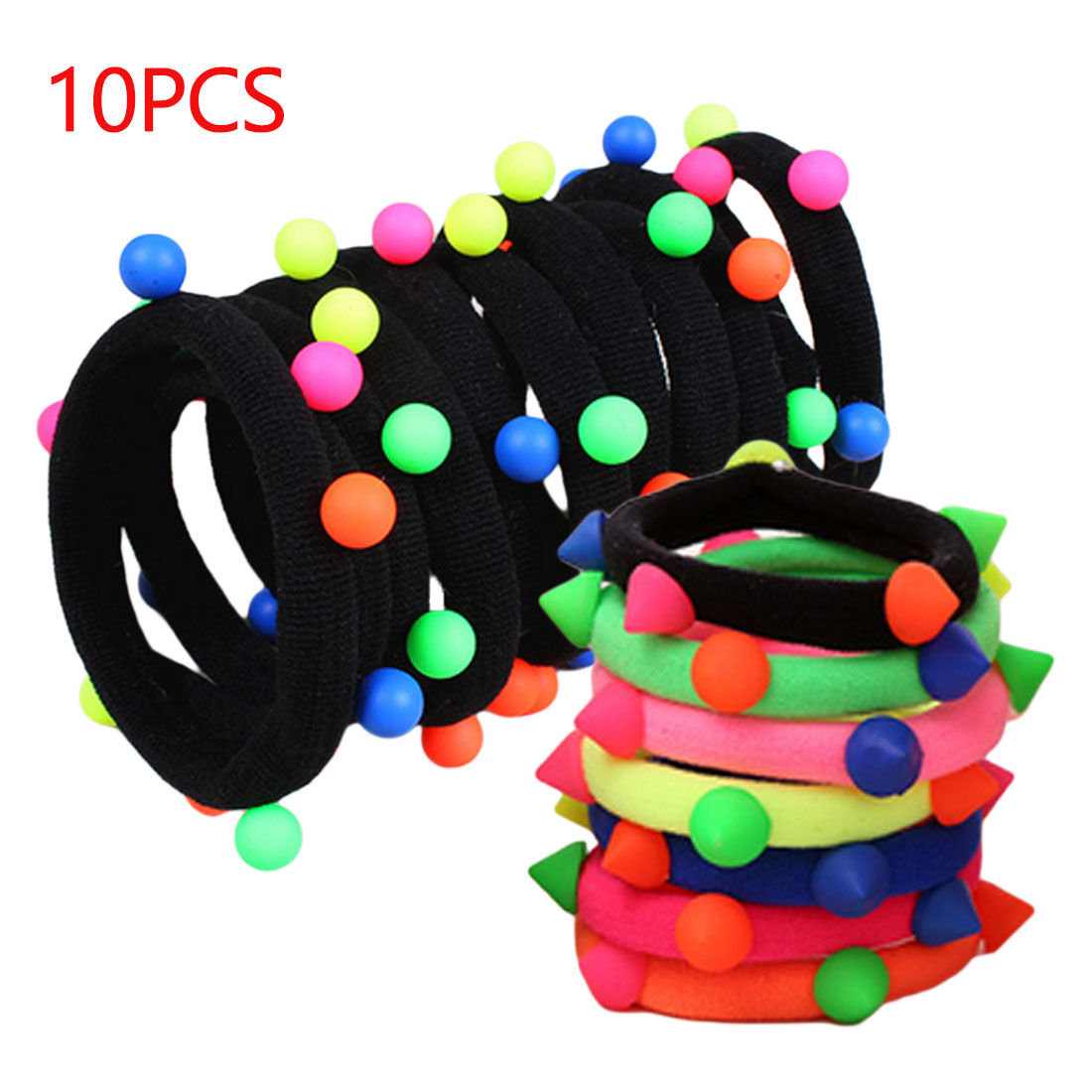 10pcs/lot Pearl Elastic Tie Gum Hair Accessories Hair Bands Headwear Ponytail Holder Ropes Seamless Scrunchie Gum for Girls hot sale women s hair accessories high quality elastic rubber bands for girls ponytail holder rope female headwear tie gum ns075