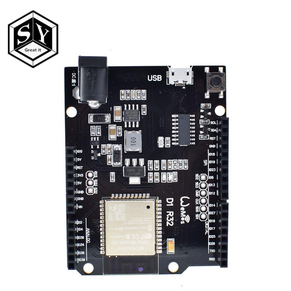 GREAT IT For Wemos D1 ESP32 ESP-32 WiFi Bluetooth 4MB Flash UNO D1 R32  Board Module CH340 CH340G Development Board For Arduino