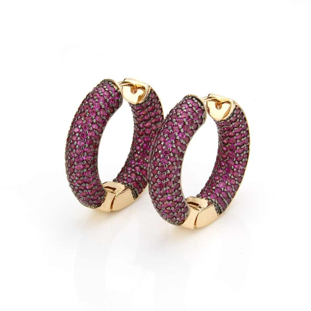 Sunsll Vàng Đồng Chân Nhiều Màu Đá Cubic Zirconia Vòng Tròn Lớn Hoop Серьги Nữ Thời Trang Trang Sức Dự Tiệc Cobre CZ D'oreille