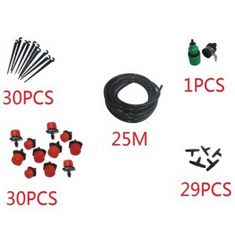 25m DIY Micro Drip Bewässerung System Garten Micro Spray Anzüge Landschaft Bewässerung Ausrüstung Sprinkler Bewässerung Gerät