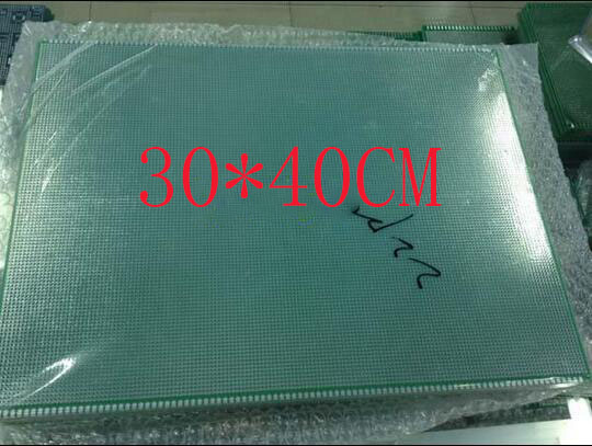 free shipping 5PC PCB Manufacture Green mask pcb 30*40CM 1.6MM thick 2.54 pitch universal pcb board
