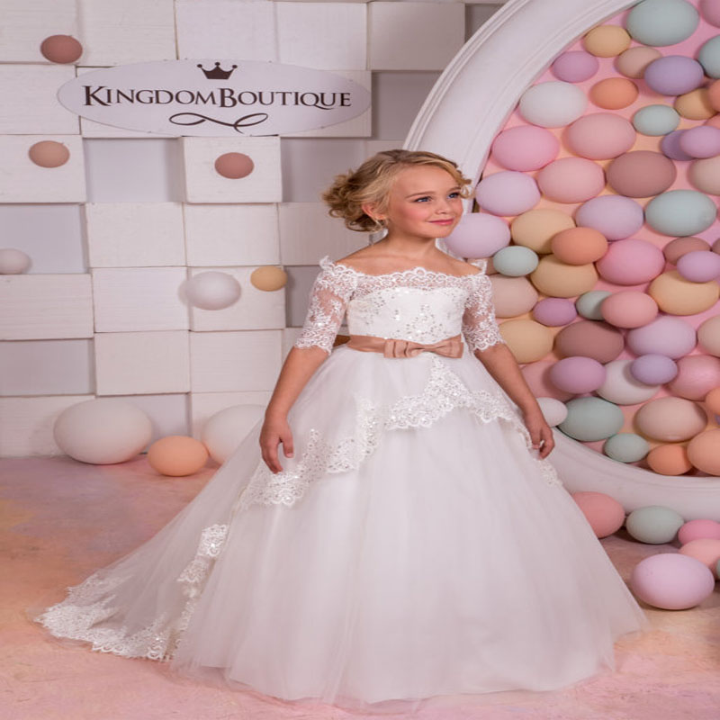 Mermaid Flower Girl Dresses for Wedding Tulle First Communion Dresses for Girls Lace Girls Pageant Dress Mother Daughter Dresses sleeveless pageant dresses for girls tulle flower girl dress for weddings sequined girls pageant dresses mother daughter dresses