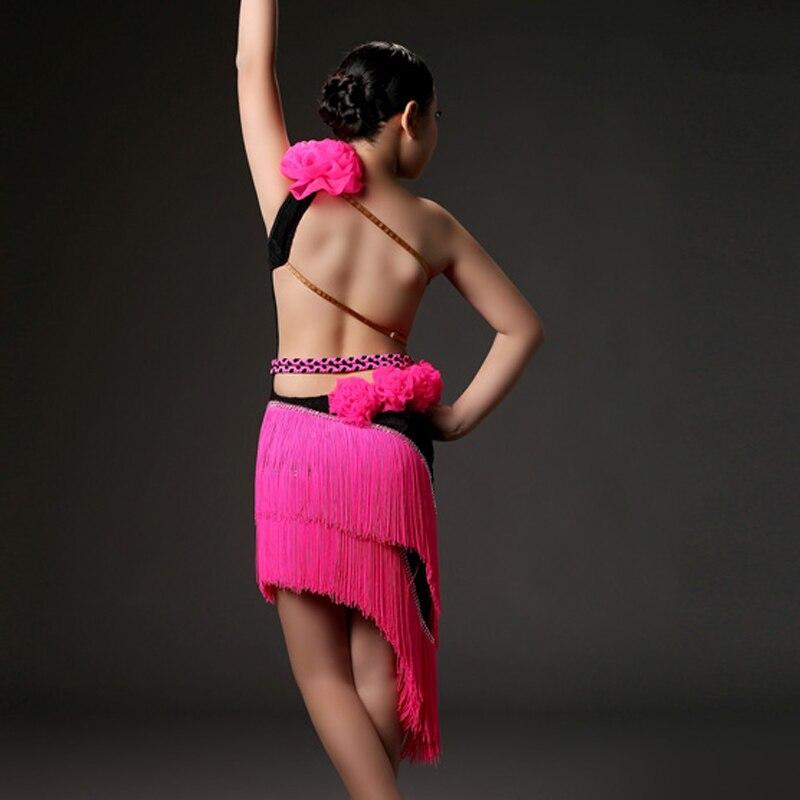 Picture of  Tassel Kids Latin Dress For Girls Clothes For Dancing Girls Dance Costumes For Kids Dancewear Salsa Dress Fringe Samba