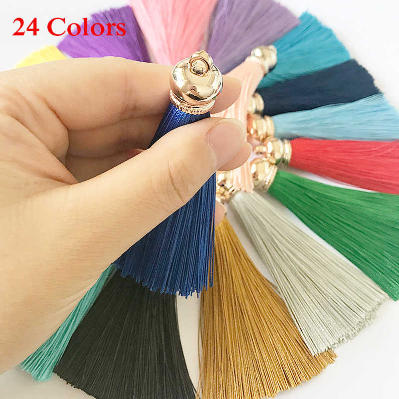 10pcs 8cm Tassels Can Mix Colors DIY Jewelry Findings Women Earrings & Bag Accessories Handmade Materials Key Chain Pendant
