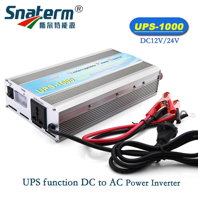 UPS-1000 Rated Power 1KW/1000W UPS DC to AC Car Solar Sine Wave Power Inverter Converter With Battery Charger and UPS function