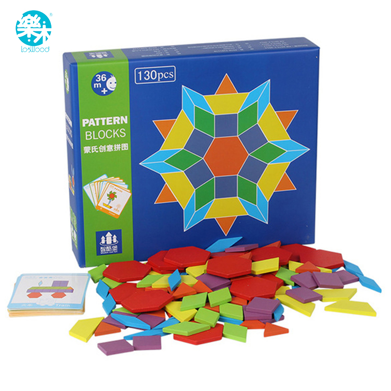 Logwood 130 PCS Wooden Puzzle Games Montessori Educational Toys For Children Jigsaw Puzzle Learning Wood Developing Toys montessori education wood blowers traditional blowing games interactive games children early education puzzle toys