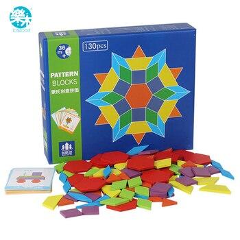 Logwood 130 Piezas De Rompecabezas De Madera Juegos Montessori
