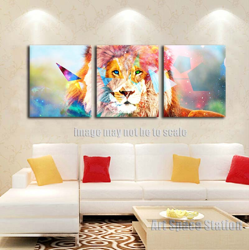 modern home decor wild african lion creative animals painting print