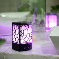 Fine Mist Water Cube 200ML Aroma Oil Diffuser Desktop Office Ultrasonic Air Humidifier Atomizer Essential Oil Diffuser LED Light