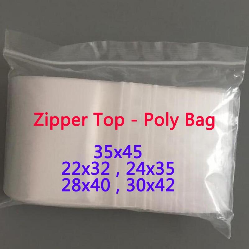 Large Transparent Zip Lock Plastic Bags Ziplock Zip Zipped ...