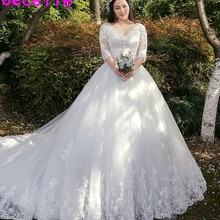 cecelle Ball Gown Wedding Dress With Sleeves Bridal Gown