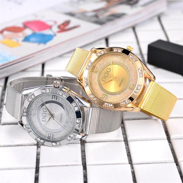 Fashion Crystal Stainless Steel Analog Quartz Wrist Watch Bracelet wrist watches