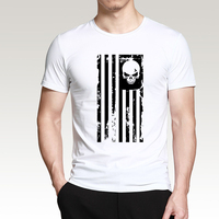 Cool T Shirt The Punisher Skull 2018 Summer New Cotton Hipster O Neck Men T Shirt