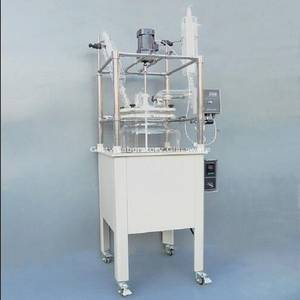 100L Single-deck Glass Chemical Reactor, Chemistry Reactor Vessel w Water Bath