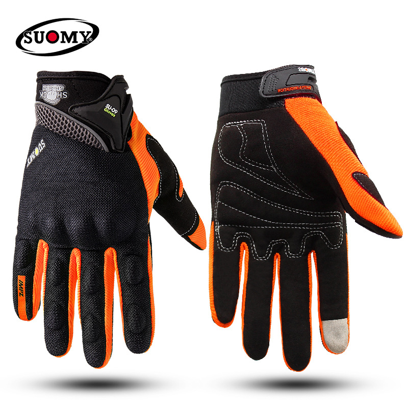 Motorcycle-Gloves SUOMY Racing Summer Guantes Full-Finger-Protective Luva